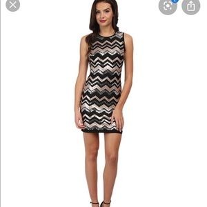 Vince Camuto Chevron Sequin Shift Dress 2